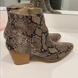 Free People vegan snakeskin boots